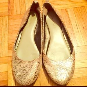 Gold Banana Republic flats